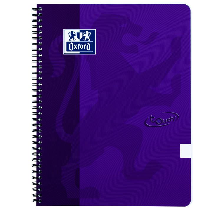 Notesbog Oxford TOUCH A4+ lilla blank 90g