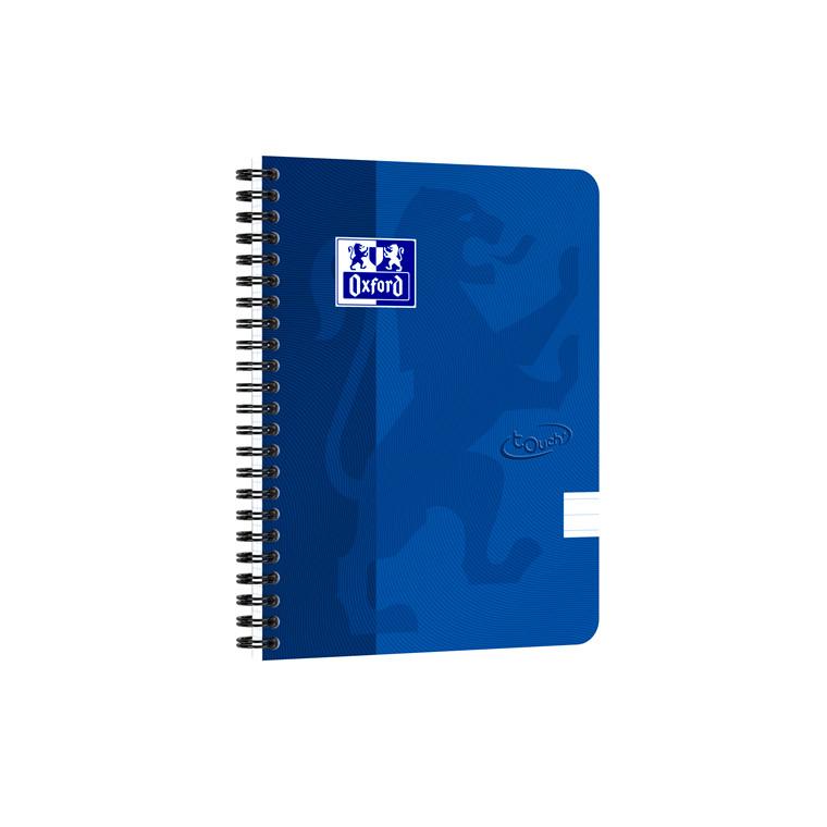 Notesbog Oxford TOUCH A5+ blå linieret 90g
