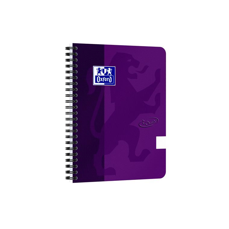 Notesbog Oxford TOUCH A5+ lilla blank 90g