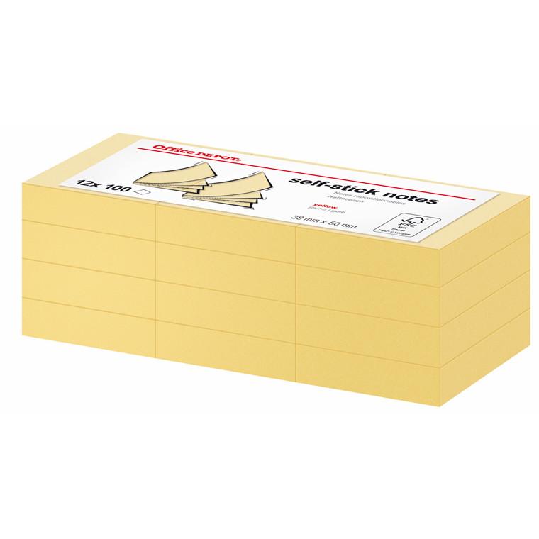 Office DEPOT - Gule notes 38 x 50 mm 1412478 - 12 blokke