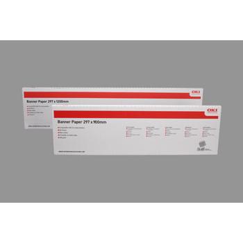 OKI - Bannerpapir 215 x 1200 mm matt A4 160 gram - 40 ark