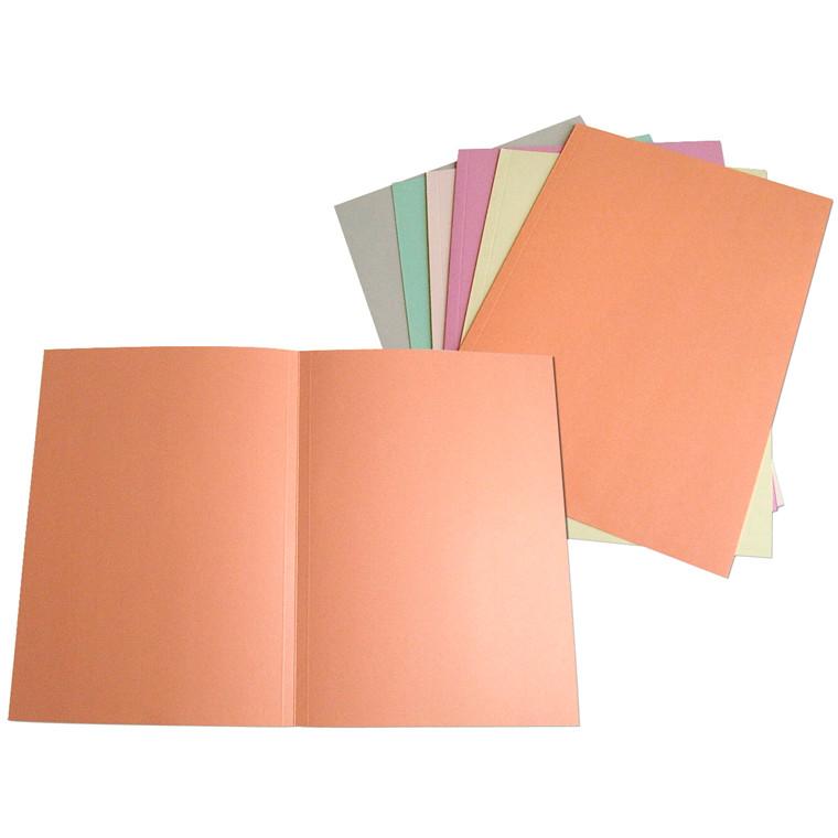 Omslag A4 i 250 gram karton uden klapper - Rosa