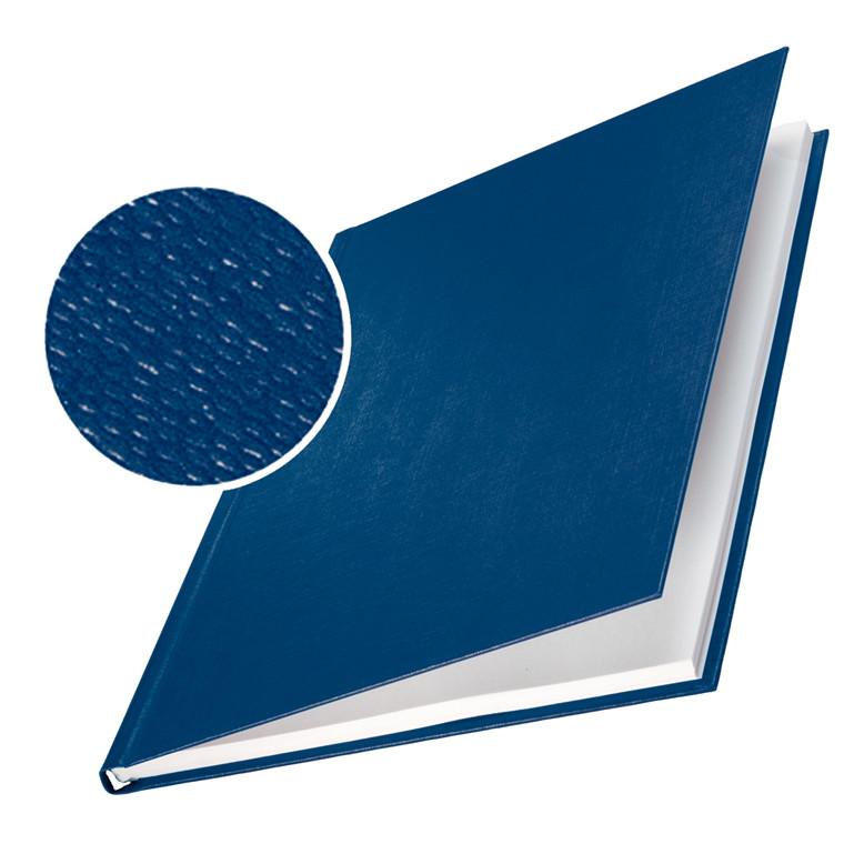 Omslag - Leitz impressBIND blå lærredspræg  til 70 ark -  10 stk