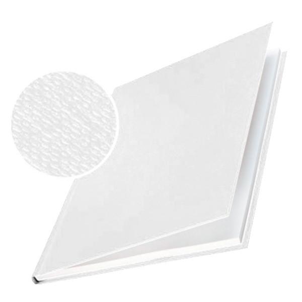Omslag -  Leitz impressBIND hvid lærredspræg til 35 ark - 10 stk