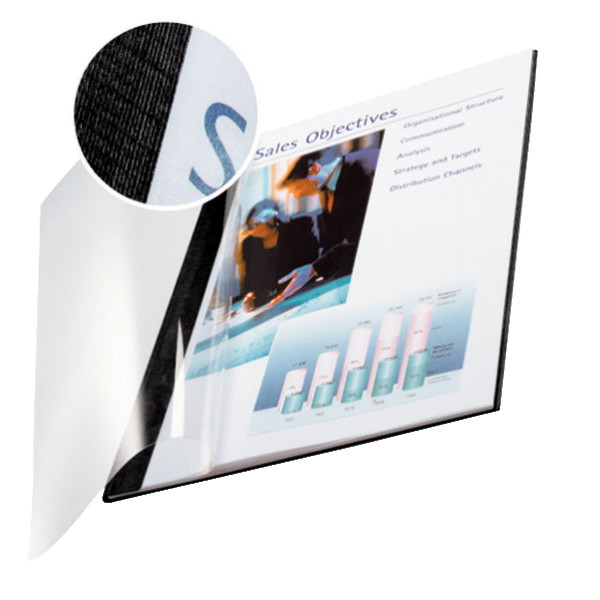 Omslag - Leitz impressBIND sort til 35 ark -  10 stk