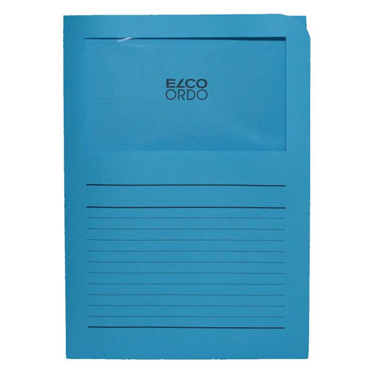Omslag m/rude Elco blå A4 220x310mm 100stk/pk