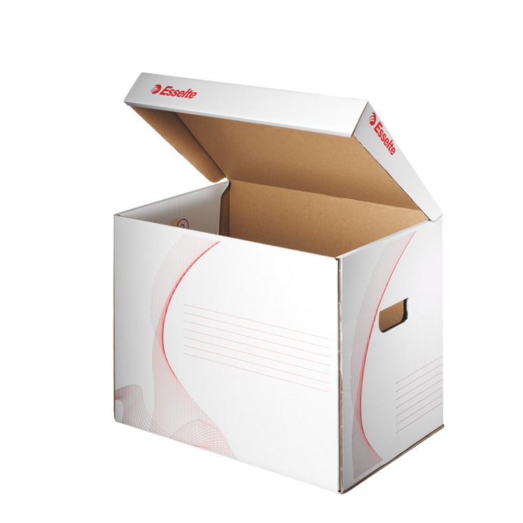 Arkivkasser 39,8 x 30,2 x 28 cm Esselte 128911 - hvid/rød