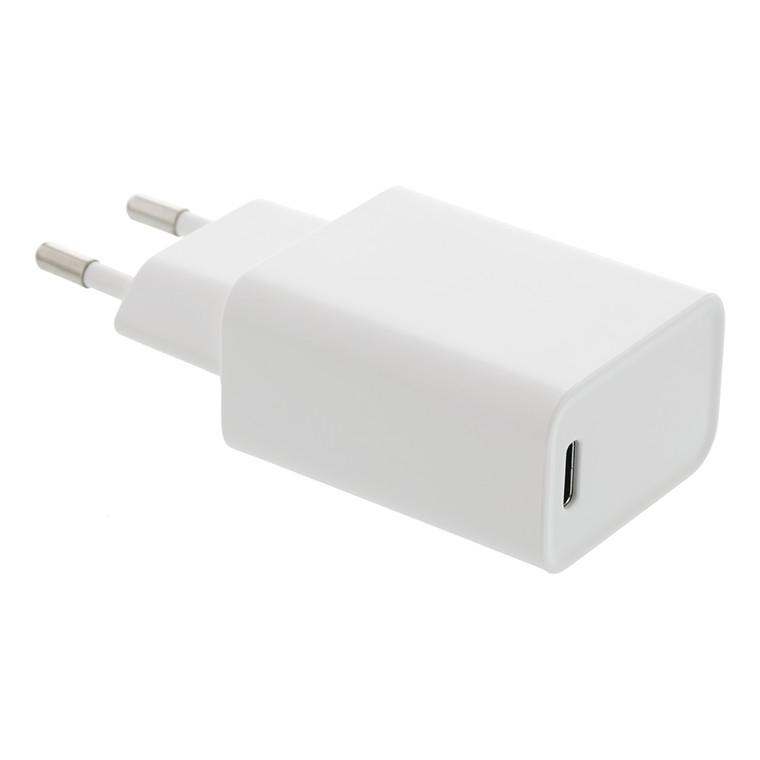 Oplader til væg PD 18w USB-C hvid