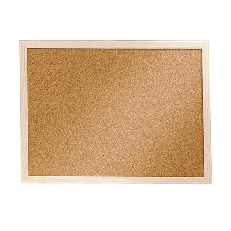 Opslagstavle kork 60 x 100 cm med træramme - BNT
