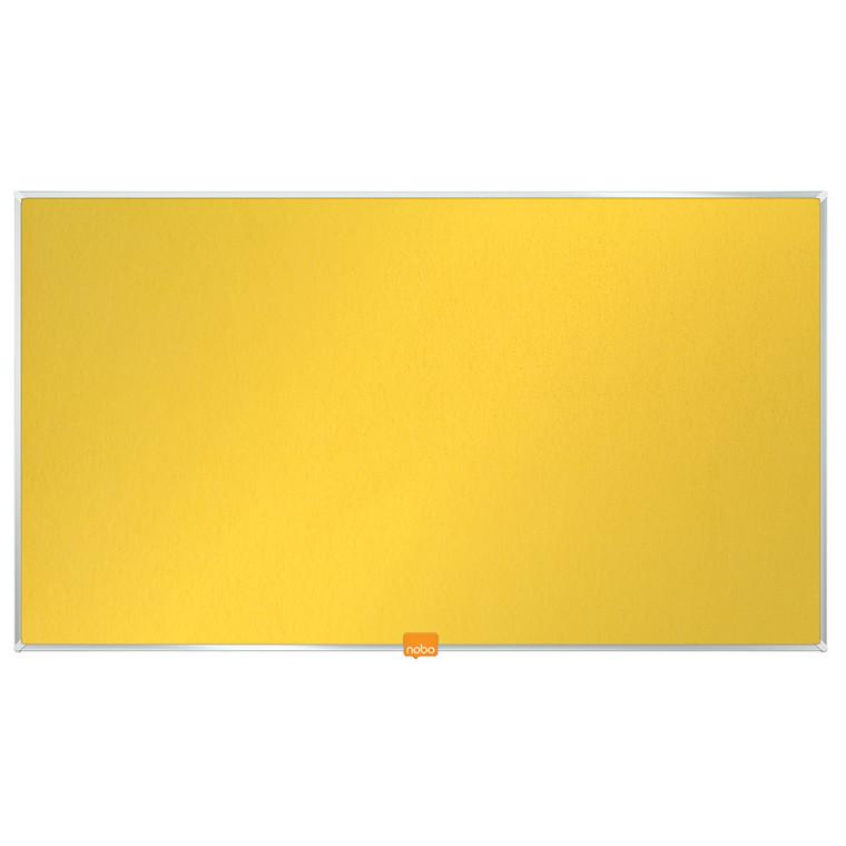 """Opslagstavle Nobo filt widescreen 32"""" gul 710x400mm"""
