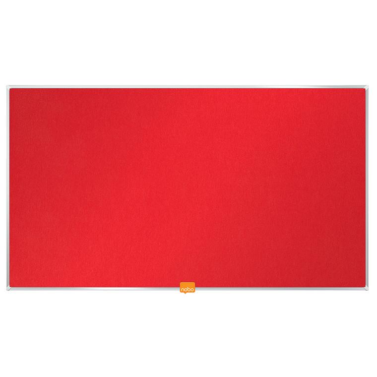 """Opslagstavle Nobo filt widescreen 32"""" rød 710x400mm"""