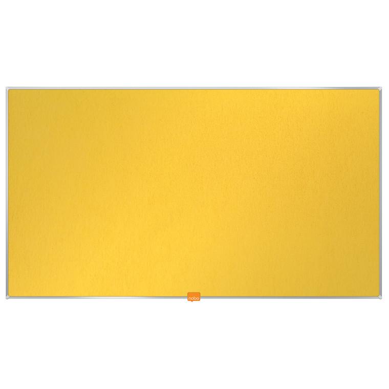 """Opslagstavle Nobo filt widescreen 40"""" gul 890x500mm"""