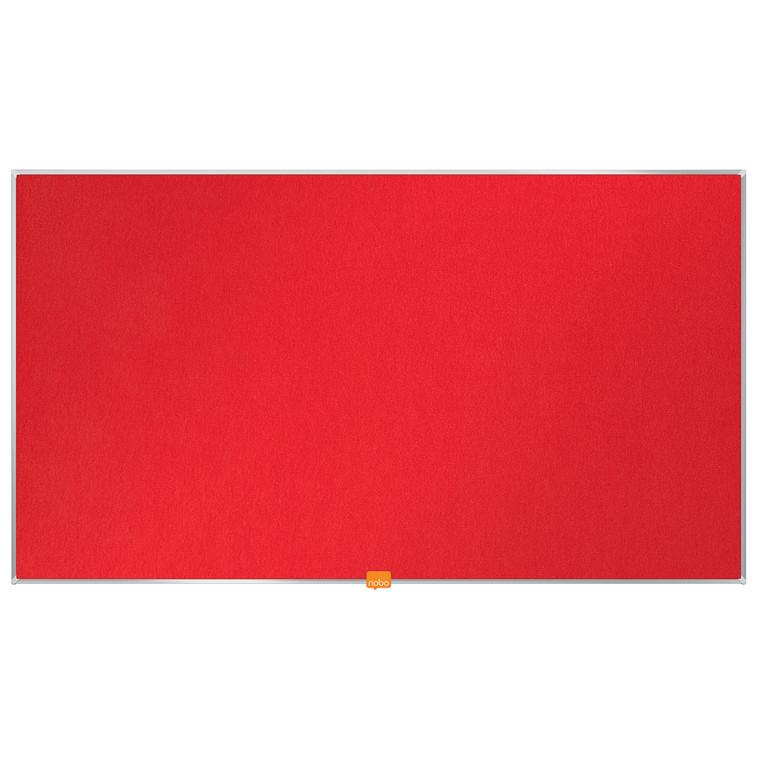 """Opslagstavle Nobo filt widescreen 40"""" rød 890x500mm"""