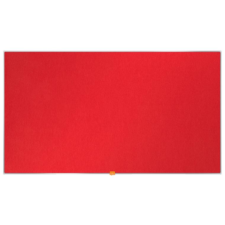 """Opslagstavle Nobo filt widescreen 55"""" rød 1220x690mm"""
