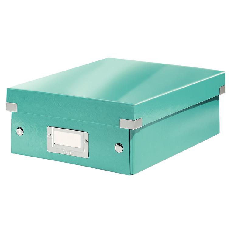 Leitz Click & Store opbevaringskasse 22 x 10 x 28,5 cm - Isblå