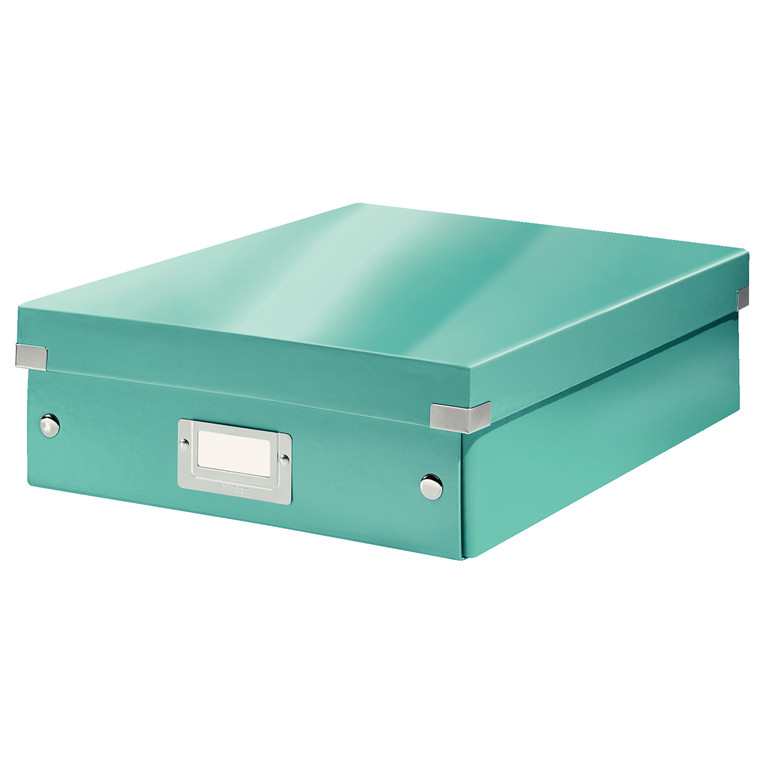 Opbevaringskasse 28 x 37 x 10 cm Leitz Click & Store - Isblå
