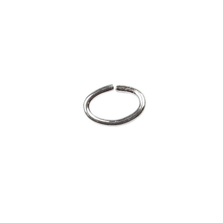 Oval-ring, tykkelse: 0,7 mm, indv. mål 2,5x4 mm, forsølvet, FS, 50stk.