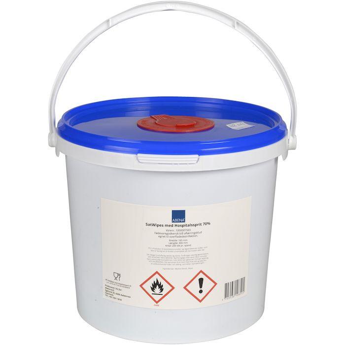 UDSOLGT Overfladedesinfektion, Abena, 70% ethanol denat., blå, 16,50x30 cm, 200 stk
