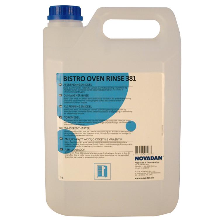 Novadan Bistro Oven Rinse 381 Ovnskyllemiddel | 5 liter