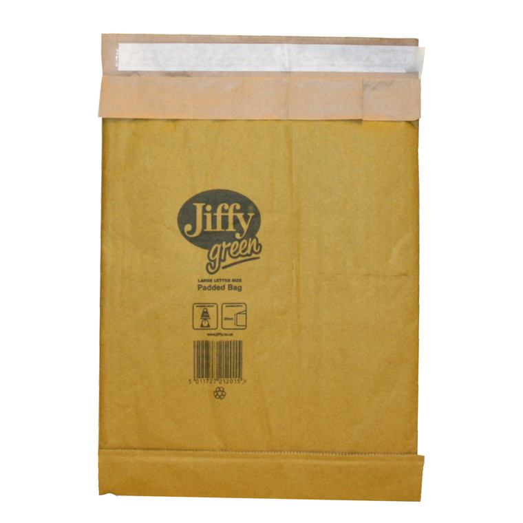 Padded bag Jiffy str. 2 200x235mm brun