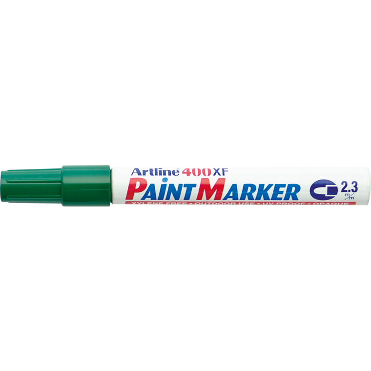Paint marker Artline EK400 grøn 2,3mm rund spids