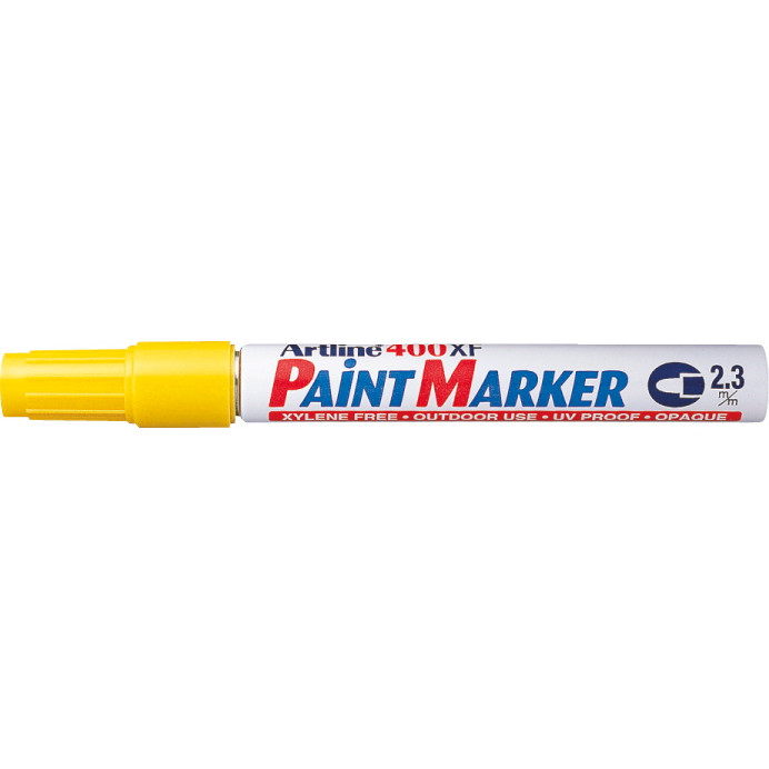 Paint marker Artline EK400 gul 2,3mm rund spids