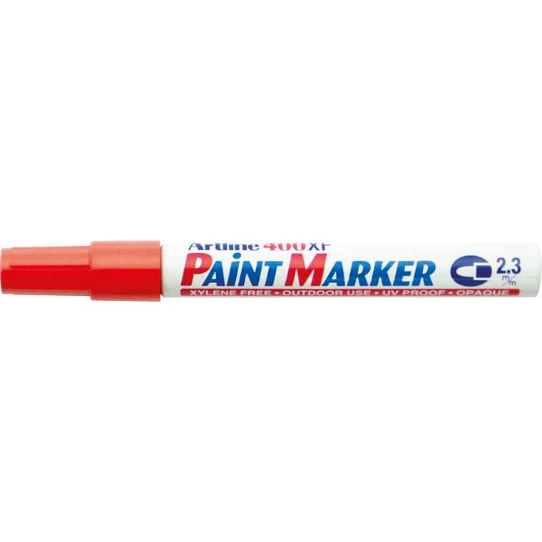 Paint marker Artline EK400 rød 2,3mm rund spids