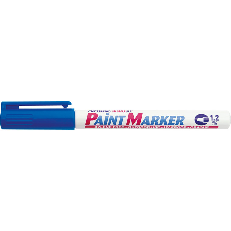 Paint marker Artline EK440 blå 1,2mm rund spids