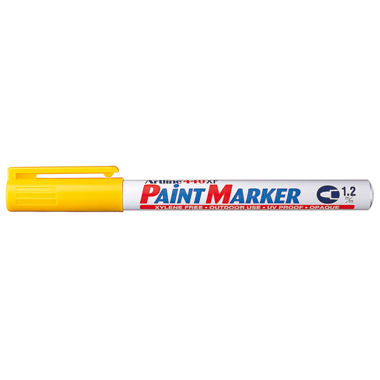 Paint marker Artline EK440 gul 1,2mm rund spids