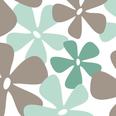 Paisley serviet, 3-lags, 1/4 fold, design, hvid/ grå-brun, papir, 33cm x 33cm