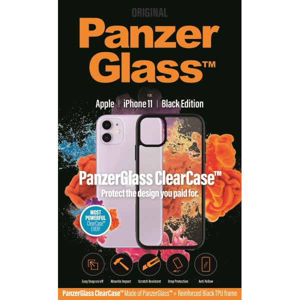 PanzerGlass ClearCase with BlackFrame for iPhone 11