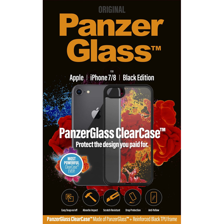 PanzerGlass ClearCase with BlackFrame for iPhone 8/7