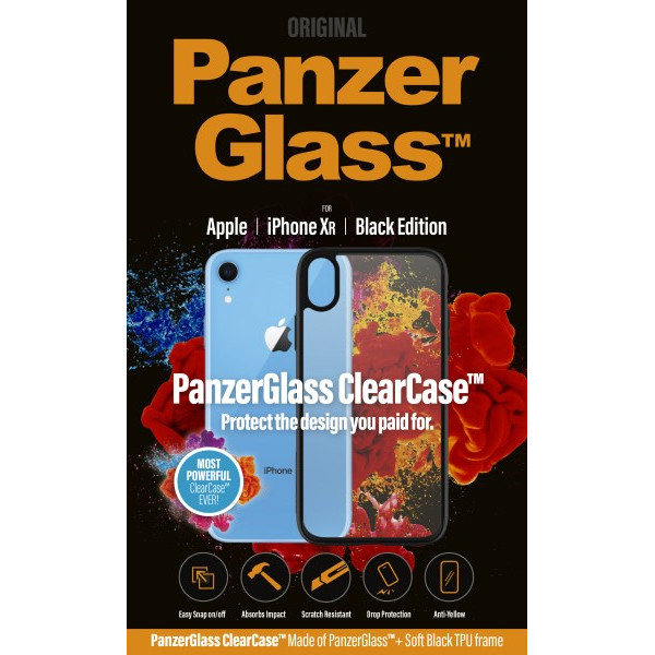 PanzerGlass ClearCase with BlackFrame for iPhone XR