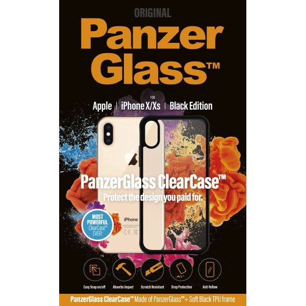 PanzerGlass ClearCase with BlackFrame for iPhone X/Xs