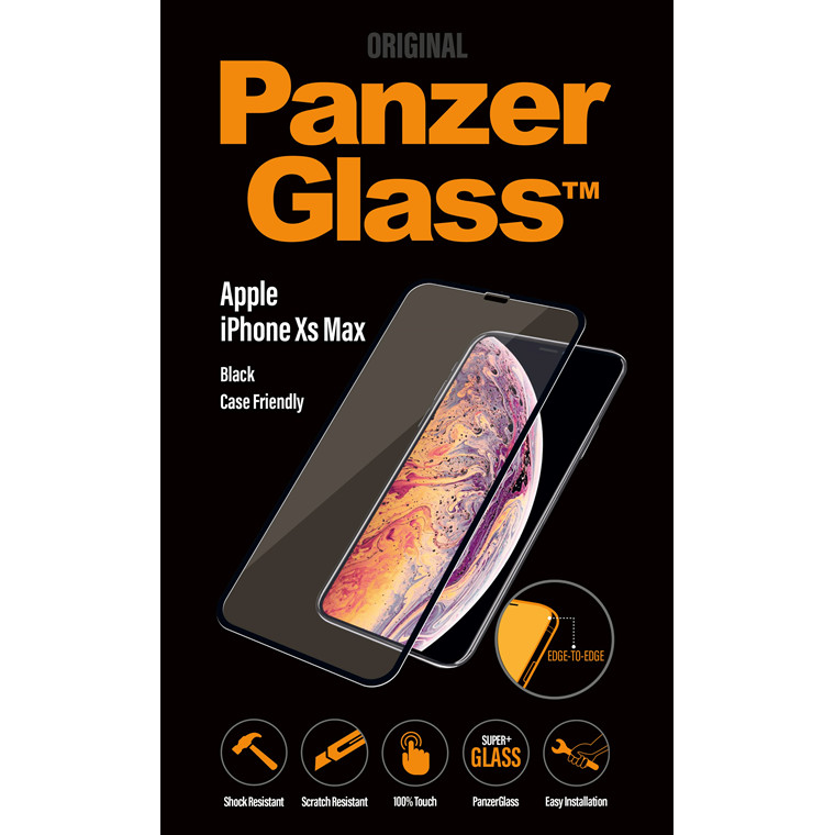 PanzerGlass iPhone X Plus, Black (CaseFriendly)