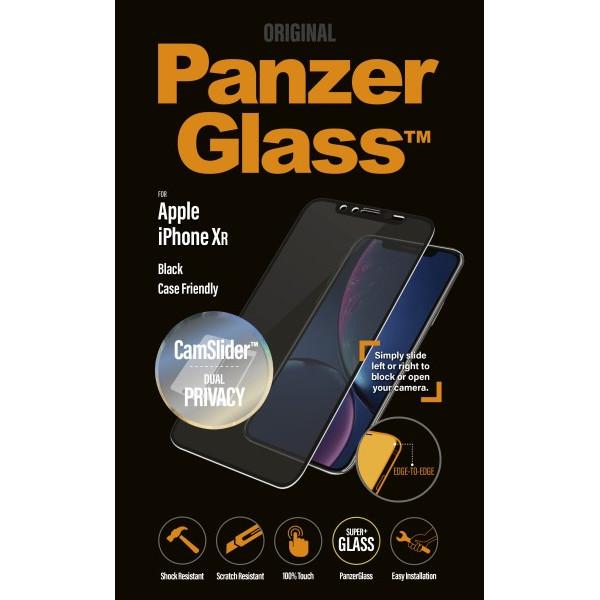 PanzerGlass iPhone XR Privacy CamSlider, Black (CaseFriendly