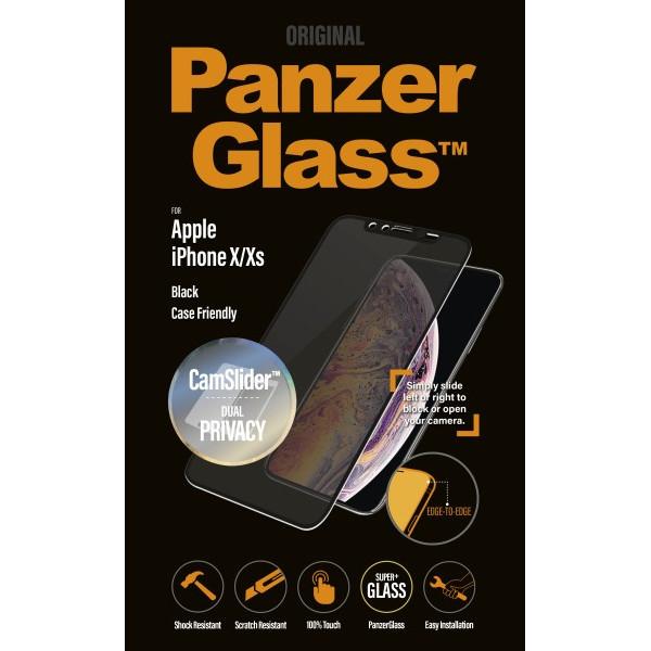 PanzerGlass iPhone X/Xs Privacy CamSlider, Black (CaseFriend