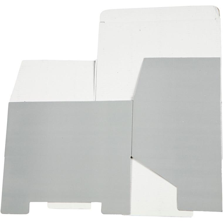 Papæske 15,5 x 10 x 22 cm | lys grå