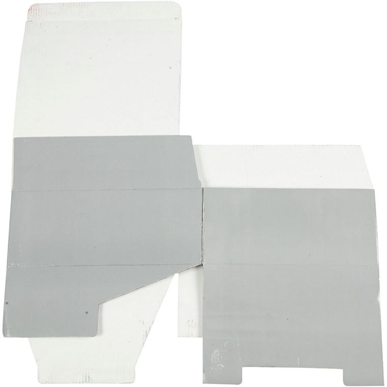 Papæske 25 x 10 x 22 cm | lys grå