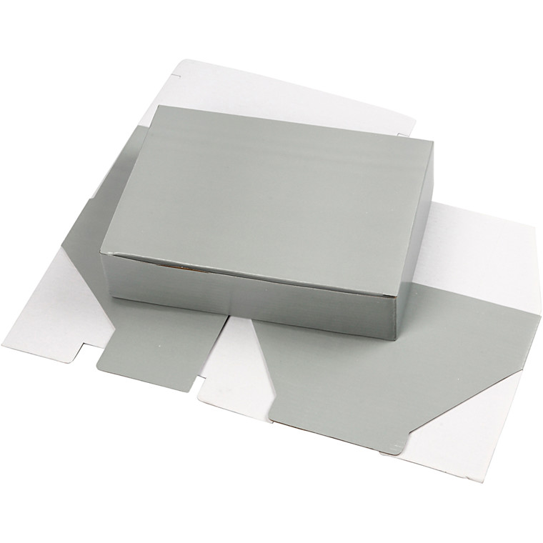 Papæske 15,5 x 5 x 22 cm | lys grå
