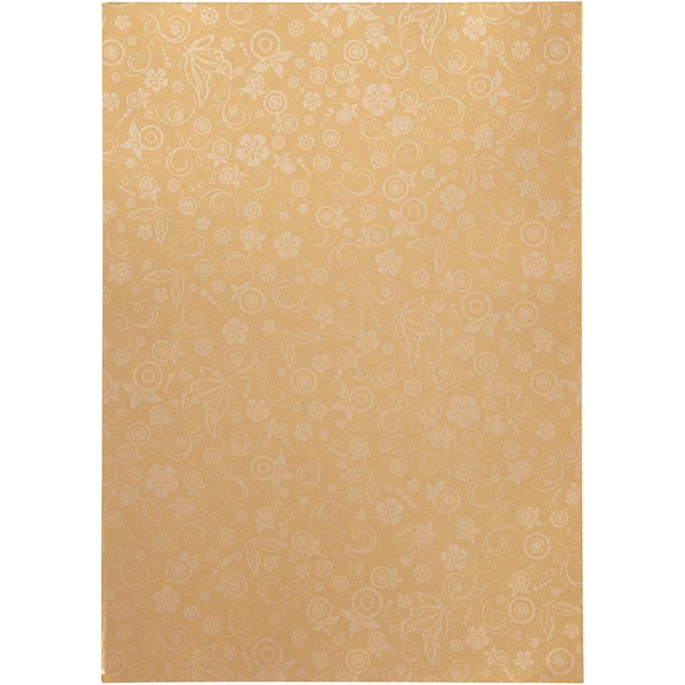 Papir, guld, A4 210x297 mm, 80 g, 20ark