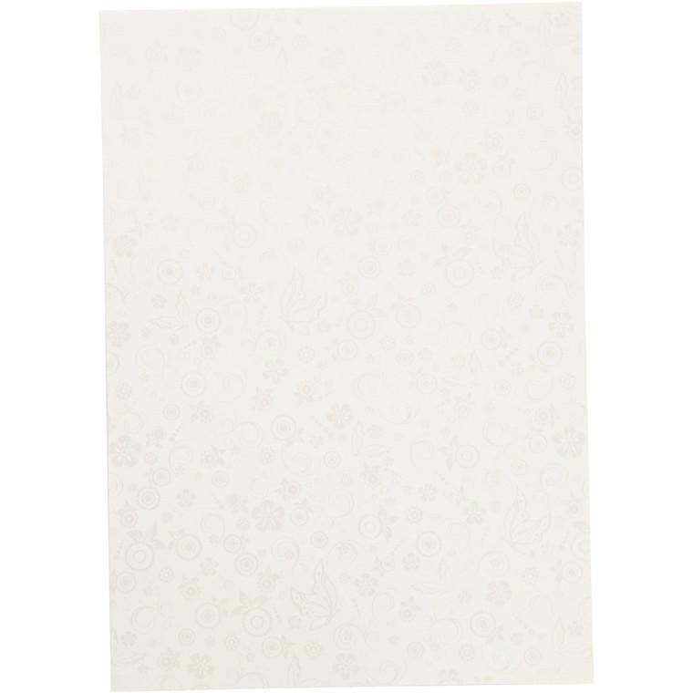 Papir, råhvid, A4 210x297 mm, 80 g, 20ark