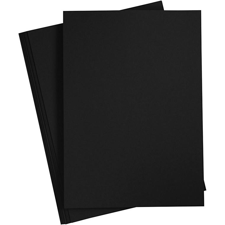Papir, sort, A4 210x297 mm, 70 g, 20stk.
