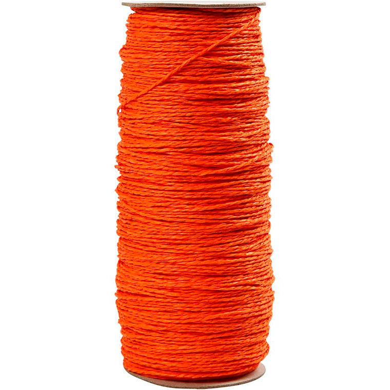 Papirgarn tykkelse 1,8 mm Længde: 470 m orange tynd - 250 gram