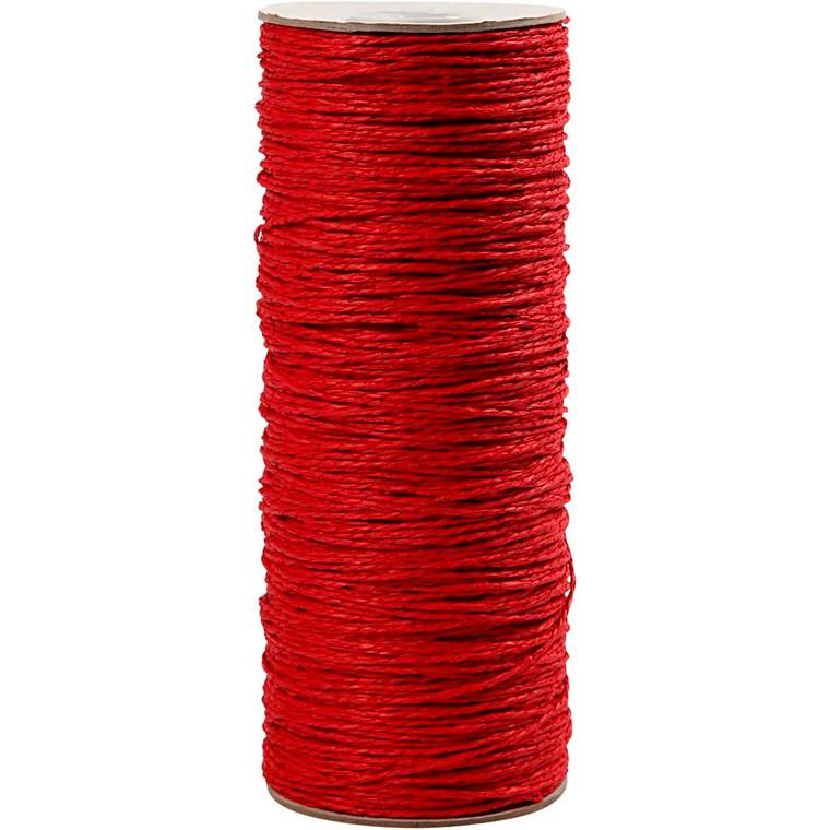 Papirgarn tykkelse 1,8 mm længde 470 meter rød tynd | 250 gram