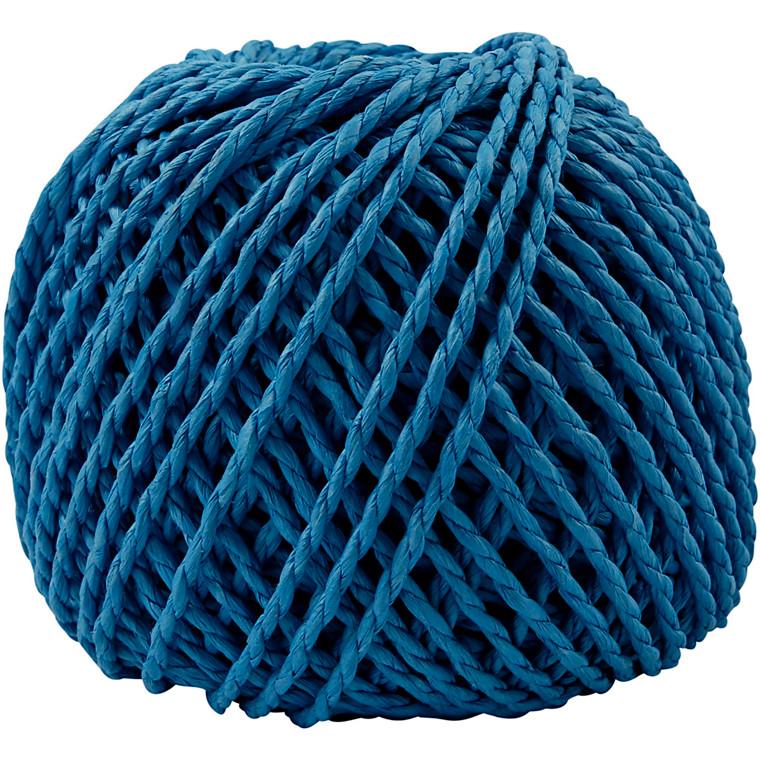 Papirgarn, tykkelse 2,5-3 mm, ca. 42 m, mørk blå, 150g