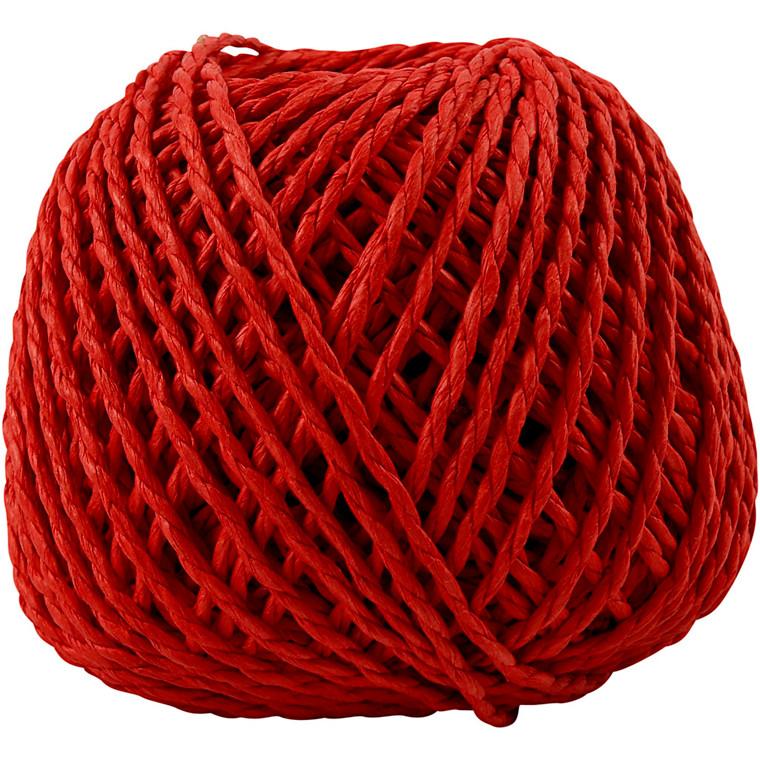 Papirgarn tykkelse 2,5-3 mm cirka 42 meter rød | 150 gram