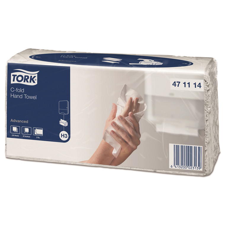 Papirhåndklæde Tork 471114 Advanced H3 2-lags C-fold - 2400 ark