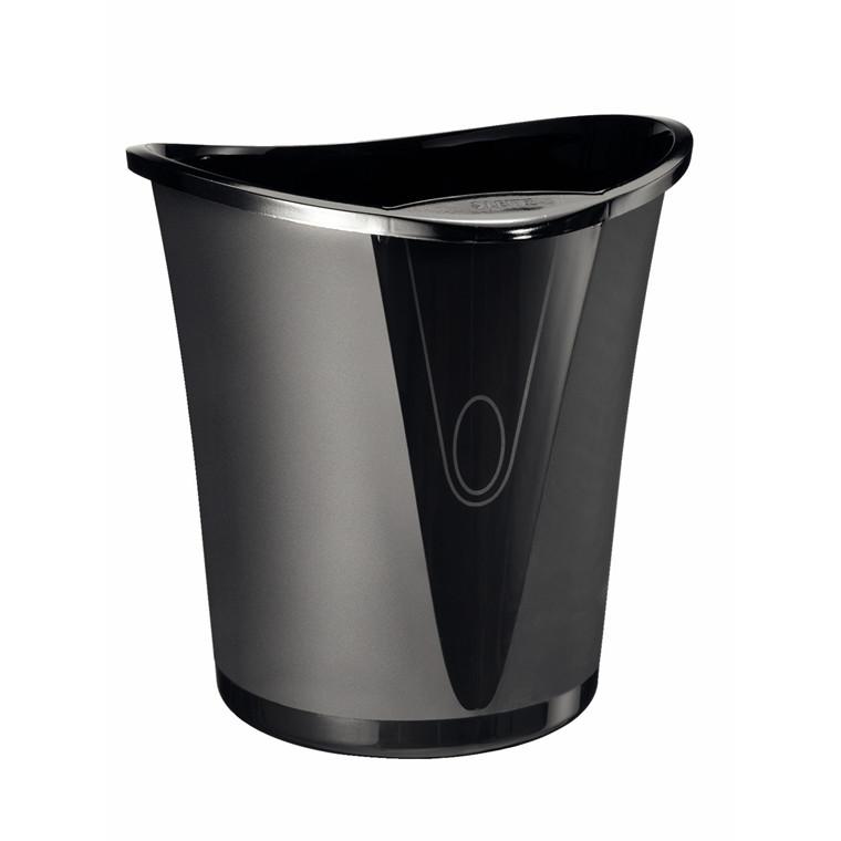 Leitz Allura Papirkurv sort 18 liter - Med håndtag Højde: 34 cm