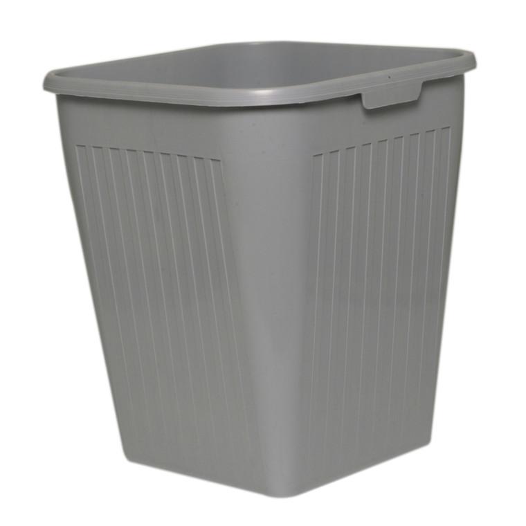 Papirkurv, Bantex, grå, 25 l